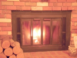 造り付けの アメリカ製暖炉