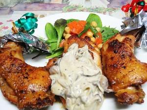 クリスマス料理ローストチキン